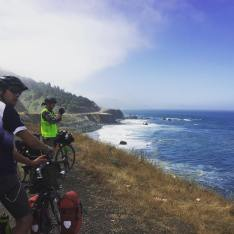 Riders capturing one of the many views Big Sur, CA, has to offer.